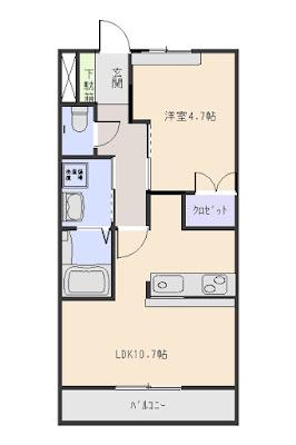 レジデンスヒルズ 酒井根7丁目 1LDK