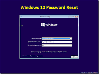 Reset forgotten windows password