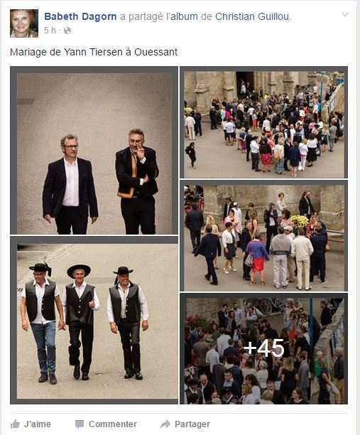 Mariage de Yann Tiersen.