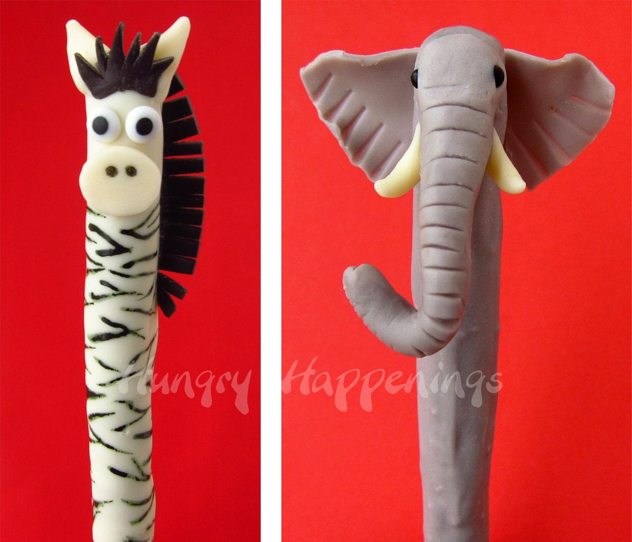 Jungle Animal Pretzel Pops - Fun and Tasty Treats