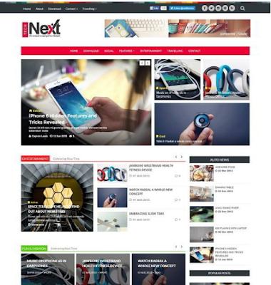 Free Download Tech Next Blogger Template • Blogspot Templates 2016