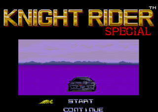 Captura de pantalla de la PC Engine (TurboGrafx 16) de Knight Rider Special, 1989