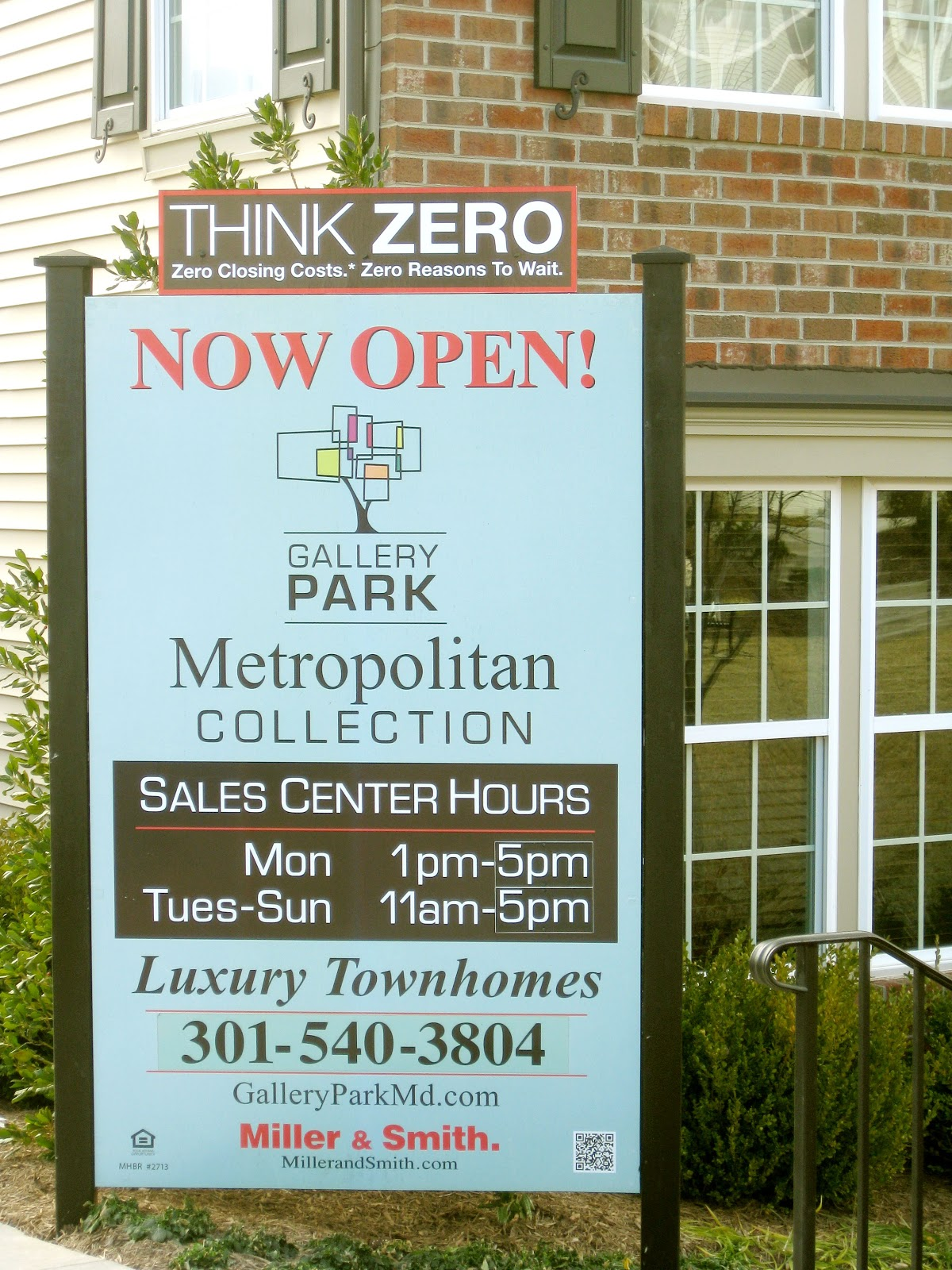 think zero - zero closing costs and zero reasons to wait with Miller and Smith for new homes in Maryland