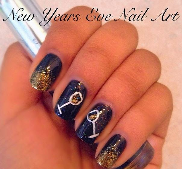 Happy New Year 2015 Nails Design Ideas  for Girls