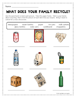 What does your family recycle? - Light Bulbs and Laughter blog