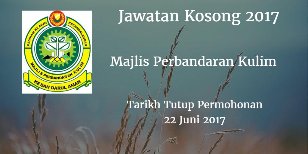 Jawatan Kosong MPKK 22 Juni 2017