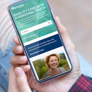 Logansport Memorial Hospital's healthcare website is optimized for mobile users