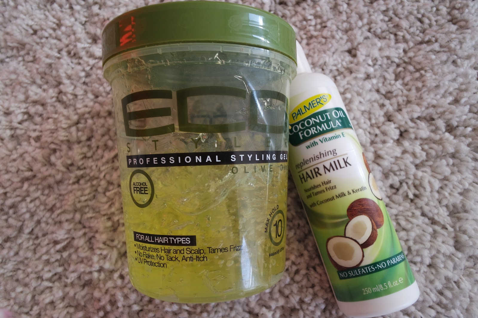 ecostyler, gel, palmers, hair milk