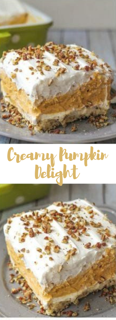 Creamy Pumpkin Delight #desserts #cakerecipe #chocolate #fingerfood #easy