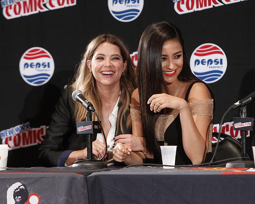 Actresses Ashley Benson and Shay Mitchell