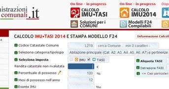 Imu e tasi calcolo online modello f24 eco del cittadino - Calcolo imu 2 casa 2014 ...