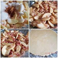 Tarta de granadas y manzanas