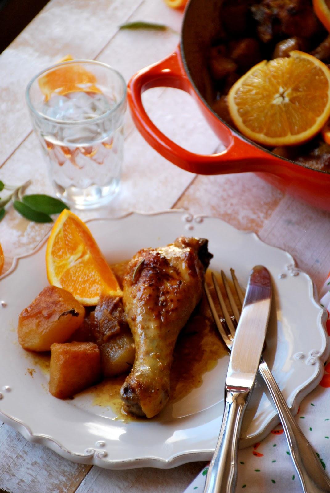 Muslos de pollo a la naranja chez silvia for Resetas para cocinar