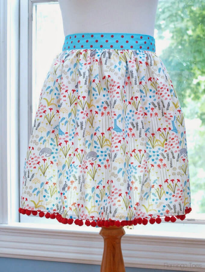 Flamingo Toes ~ Easy DIY 30 Minute Apron