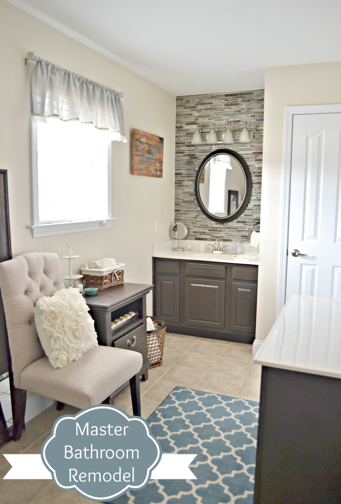 Beautiful A few months back I shared with you our Master Bedroom Makeover Around the same time we also began a remodel on the adjoining Master Bathroom