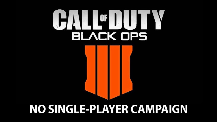 call of duty black ops 4 no single player campaign
