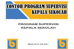 Contoh Program Supervisi Kepala Sekolah Terbaru Format Words