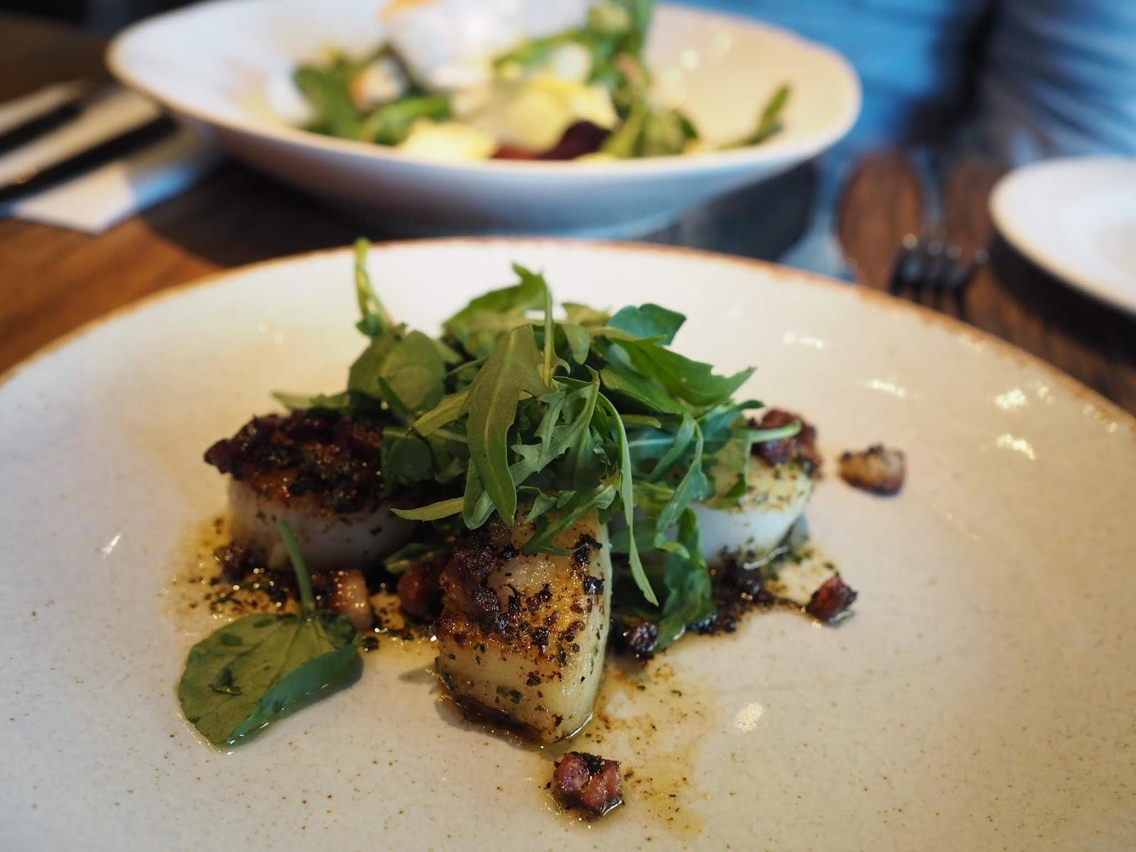 Bistrot Pierre Middlesbrough restaurant review scallops starter