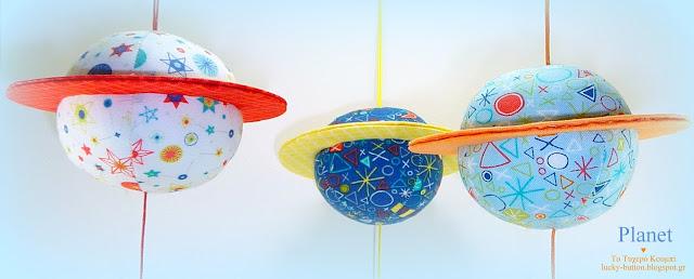 Χειροποίητοι υφασμάτινοι πλανήτες, κρεμαστό διακοσμητικό για παιδικό δωμάτιο