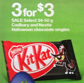 KitKat Halloween chocolate singles 3 for $3.00