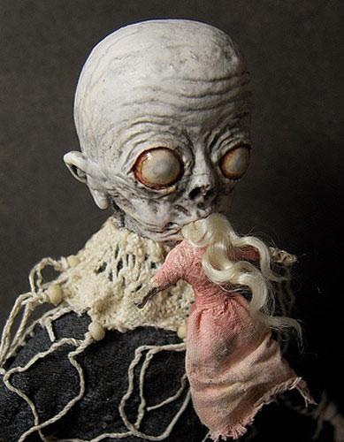 imagens assustadoras,horrorosa,boneca,pano,caveira,preto,rock,gotico,art,feia,alien