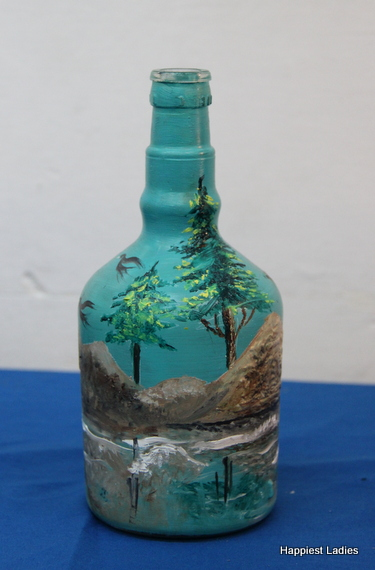 wine glass bottle painting