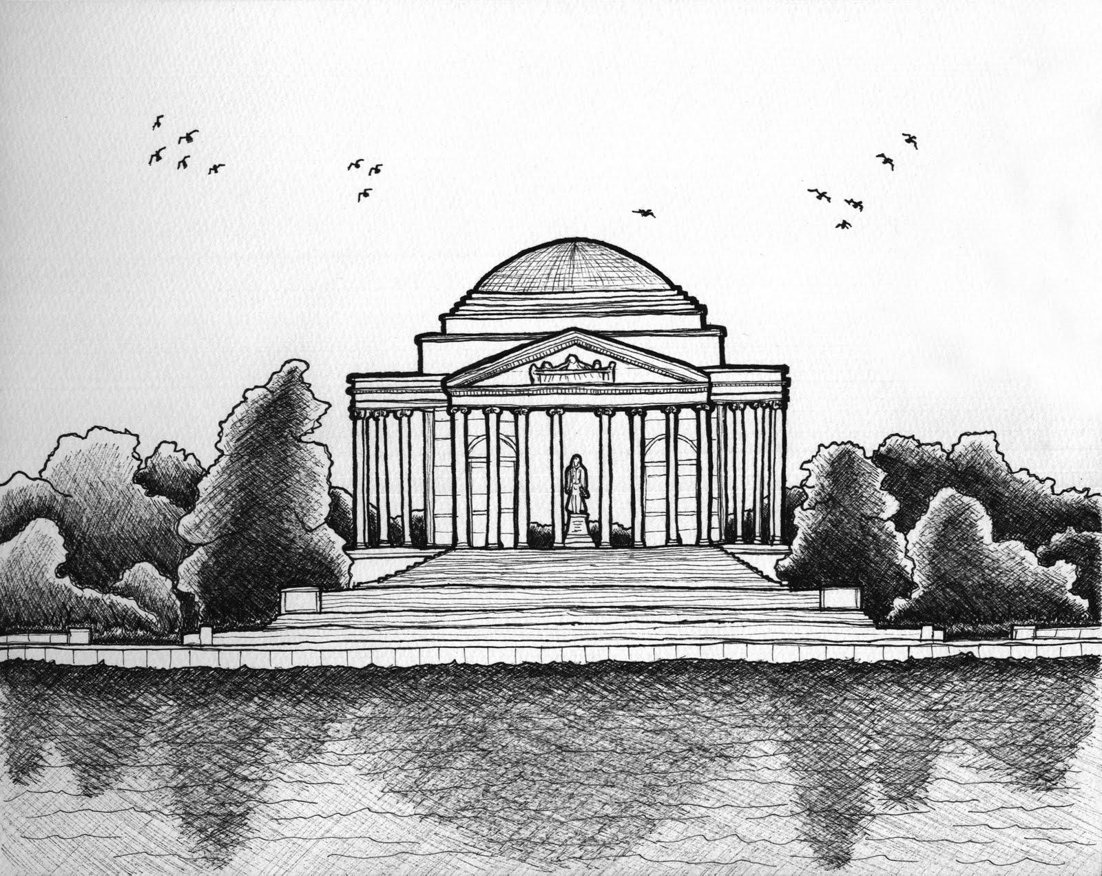 Urban Sketchers Seattle Thomas Jefferson Memorial