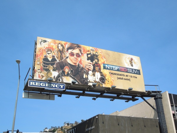 NTSF:SD:SUV:: season 3 Adult Swim billboard