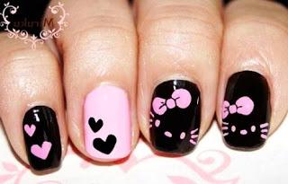 Gambar Nail Art Hello Kitty yang Cantik 8