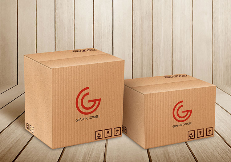 Carton Delivery Packaging Box Mockup