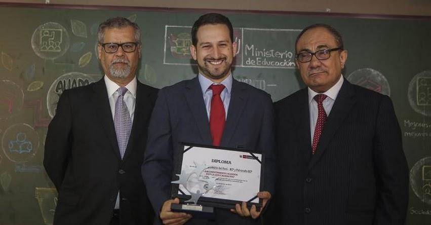 BCP es reconocido por su apuesta permanente con la educación del país