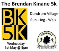 Popular 5k race nr Cashel - Wed 1st May 2019