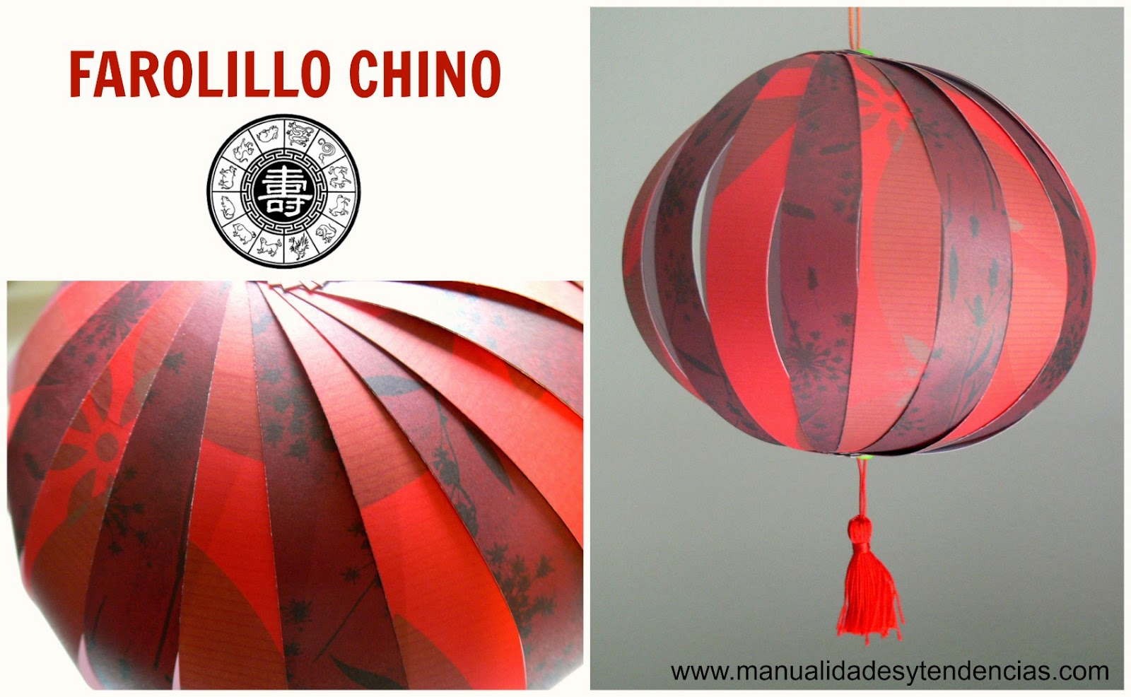 Tutorial farol chino rojo