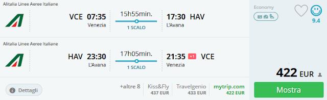 Venezia - L'Avana a/r a 422 €