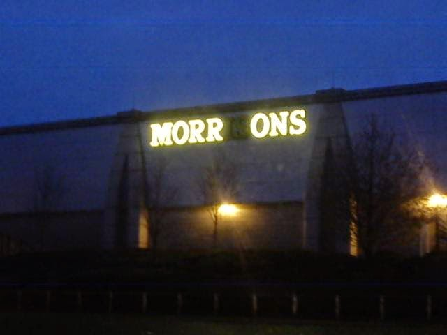 Morrisons Morrons Sign