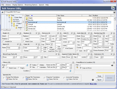 Full software with working serial key, Bulk Rename Utility version 3.0.0.1.