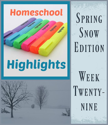Homeschool Highlights - Spring Snow Edition: Week 29 on Homeschool Coffee Break @ kympossibleblog.blogspot.com