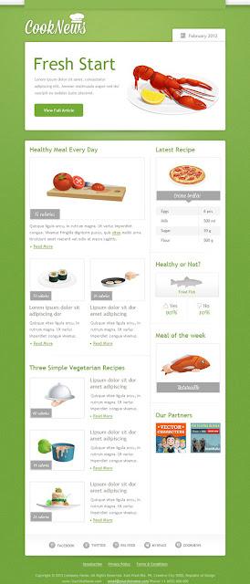 飲食電郵設計模板