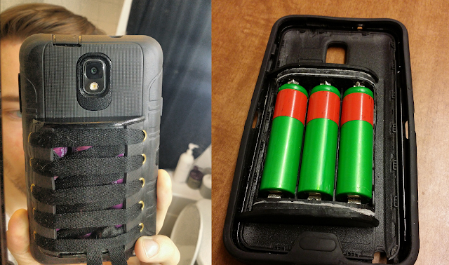Modder builds his own custom Galaxy Note 3 with 3 3500mAh 18650 cells