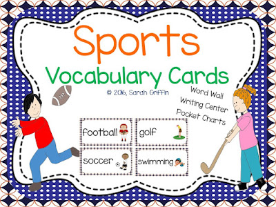 https://www.teacherspayteachers.com/Product/Sports-Vocabulary-Word-Cards-1073142