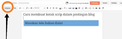 Cara membuat kota scrip di postingan