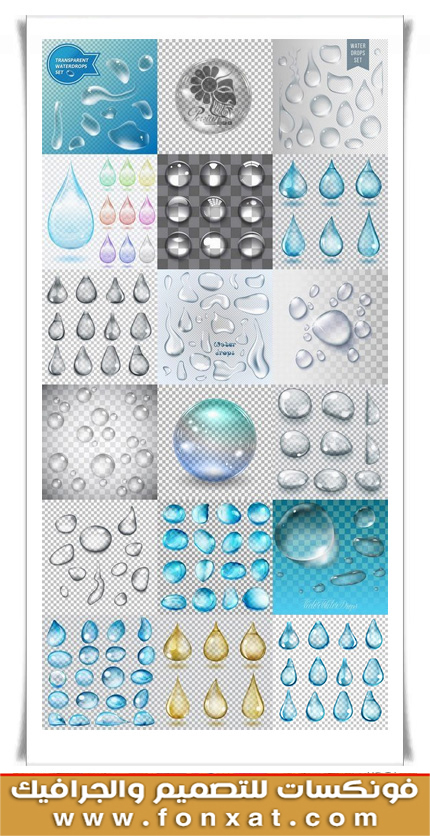 Download vector images crystal clear water droplets