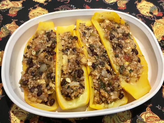 vegan Stuffed zucchini www.realfoodblogger.com