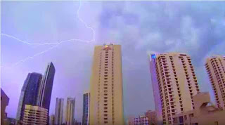 Lightning Strikes over Surfers Paradise City