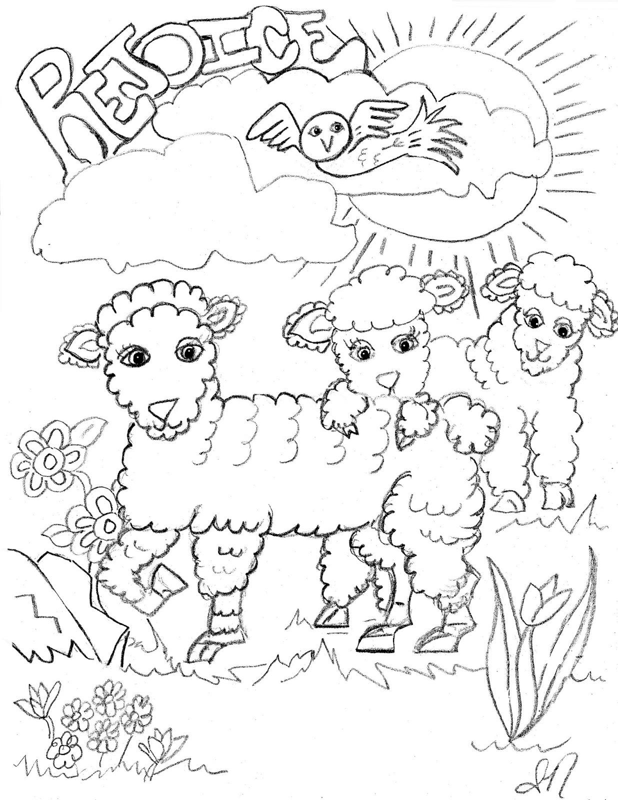 treasure box drawing for jesus lambs rejoice coloring page