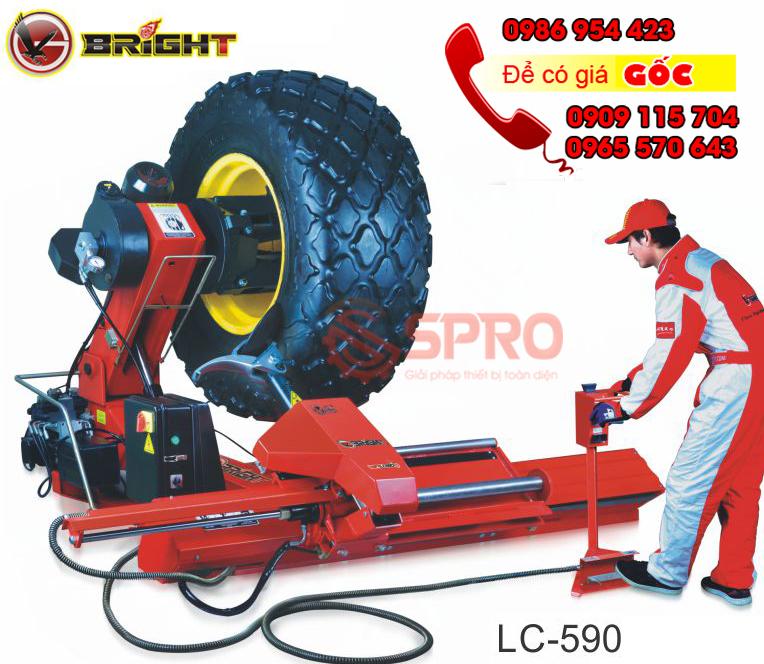 Giá máy tháo vỏ xe tải, máy ra vào lốp ô tô tải cỡ lớn bright Lc590