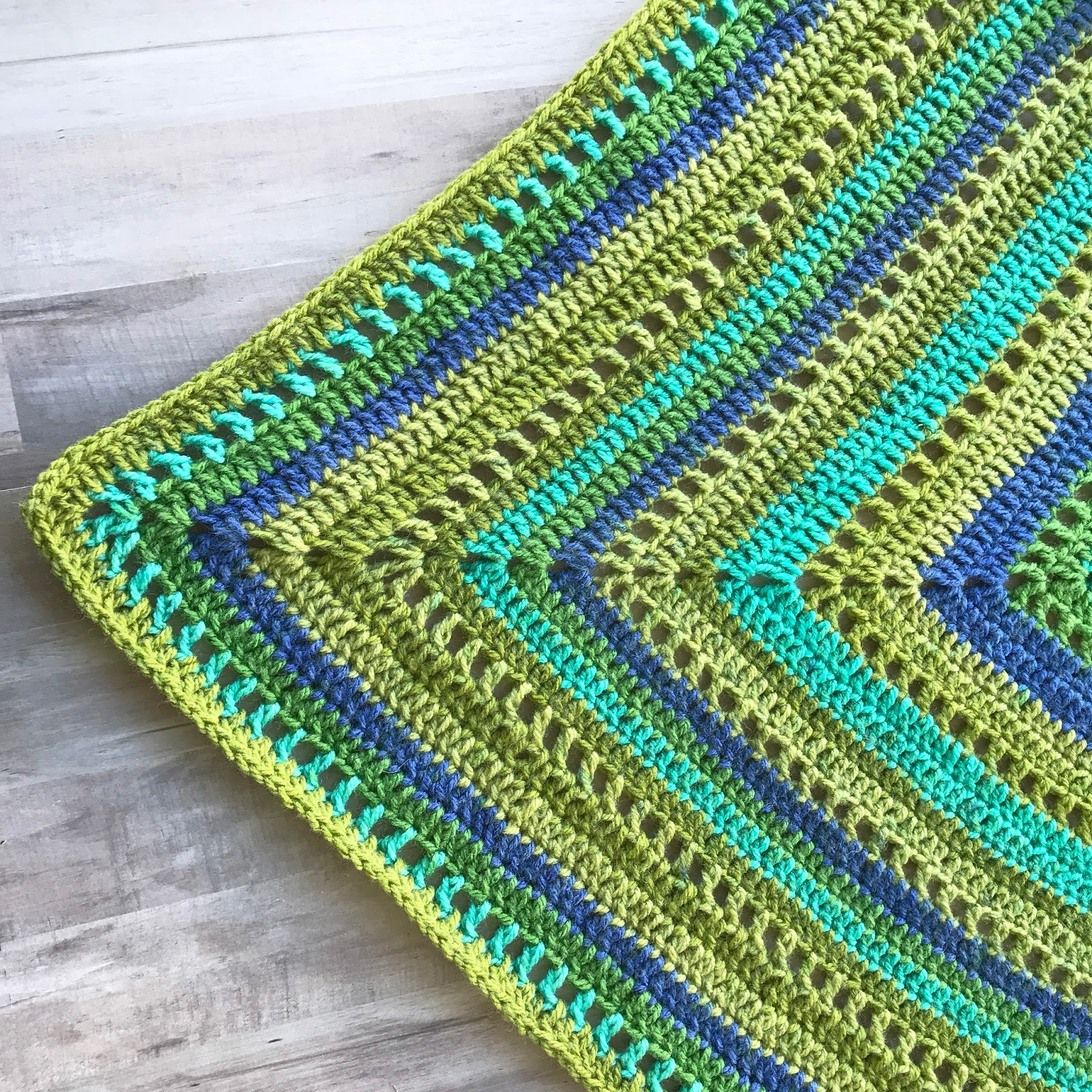 Granny Filet Square Afghan Crochet Pattern Marias Blue Crayon