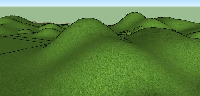 Cara Membuat Tanah Bergelombang Sketchup