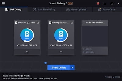 Smart Disk Defrag License Serial Key for 171 Days