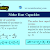Molar Heat Capacities